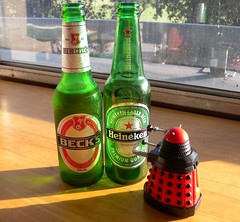 How many have I had? (Frank Hatzman) Tags: desktop beer heineken dalek becks exterminate
