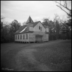 Road to salvation (dsfdawg) Tags: old white black history abandoned 120 film church rural ga vintage georgia holga rust ruins closed decay exploring south country prayer religion rustic ruin rusty chapel delta historic falling southern abandon forgotten 400 pro baptist historical weathered methodist antioch ilford boarded 120n oldsouth oldtimereligion dsfotography dsfdawg