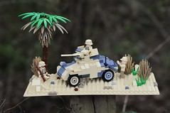 Reborn...SdKfz 222 (Florida Shoooter) Tags: germany lego ww2 armoredcar afrikakorps sdkfz222