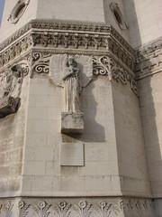 Basilica of Notre-Dame de Fourvière (Terry Hassan) Tags: france statue stone angel lyon basilica sculture fourvière basilicaofnotredamedefourvière belloni