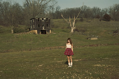(yyellowbird) Tags: house selfportrait abandoned girl wisconsin midwest cari