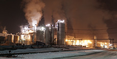 Day 272: Solvay Processing Facility At -8 degrees F (george.m.hernandez) Tags: winter night factory pentax steam tanks solvay sigma30 pentaxk10d