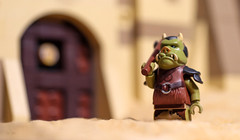 gamorrean the guard (j5k) Tags: door toys star starwars lego guard entrance palace front axe jabba wars minifig hutt gamorrean legography