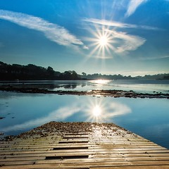 Sun Burst (Martin Mattocks (mjm383)) Tags: reflection water clouds ramp cornwall sunburst slipway canoneos5dmarkii cornwalllandscapes mjm383 martinmattocksphotography