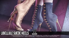 [VALE KOER] LIBELLULE SUEDE HEELS (VALE KOER) Tags: vk vale koer second life sl valekoer mesh heels suede high boot