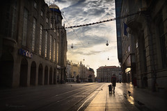the day he left everything behind (cherryspicks (intermittently on/off)) Tags: zagreb croatia architecture building city urban travel morning light street trgbanajelacica storytelling mood atmosphere leaving departure