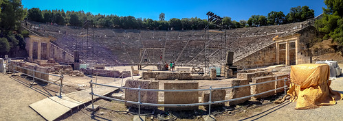 Panorama of the theatre, Epidaurus