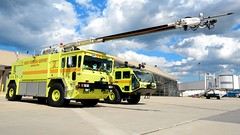 Gary Fire Department Rescue 2 & 3 (nick123n) Tags: gary fire department rescue arff airport gyy indana surpressions truck rig station crash emergency urgent lime green
