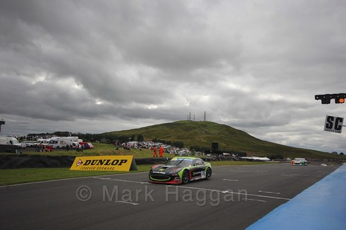 Tom Wrigley in the Ginetta GT4 Supercup during the BTCC Knockhill Weekend 2016