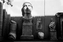 Half #2 (Michela Marucci) Tags: 2016 archeologia arte bw bronzo campidoglio centrostorico estate foriimperiali italia museicapitolini nikon nikond7000 quadri roma sole statuadicostantino statue biancoenero blackandwhite rome italy museum