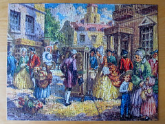 Costumes Through the Ages (pefkosmad) Tags: jigsaw puzzle hobby leisure pastime vintage complete costumesthroughtheages georgeiii17601820 goodwingoldencasket 400pieces