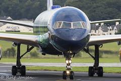 TF-FIU Boeing 757-200 Icelandair Glasgow airport EGPF 20.08-16 (rjonsen) Tags: hekla aurora borealis airplane aircraft plane special livery jet airliner icelandair