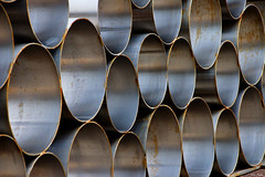 Tube Art (Russ Argles) Tags: tube steel rust circle round multiple canon 70d eos