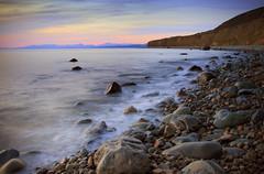 Cae Du Evening Shoreline (Howard 'H' Pimborough) Tags: howardhpimborough canon7d 1740mmf4l coast ndgrad f16 manual exposure longexposure sea rocks water gwynedd tywyn cae du caedu llywyngwril explored