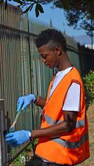 Kennedy16 (Genova citt digitale) Tags: richiedenti asilo genova piazzale kennedy agosto 2016 volontari nigeria lavoro ilva
