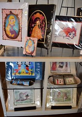 Disneyland Visit 2016-08-21 - Downtown Disney - WonderGround Gallery - Rapunzel, Belle, Merida (drj1828) Tags: us disneyland dlr anaheim california visit 2016 downtowndisney wondergroundgallery artwork disney