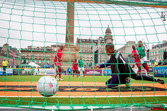 Homeless World Cup 2016. George Square, Glasgow, Scotland - 10th July 2016 (Homeless World Cup Official) Tags: hwc2016 homelessworldcup aballcanchangetheworld thisgameisreal streetsoccer glasgow soccer namibia mexico player goalkeeper ball action goal bala net unknown scotland