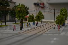 Zukünftige Haltestelle Waldfriedhof im Modell (Leo Papic) Tags: tram westtangente sfm fmtm 2016 münchen munich germany deutschland mvg museum waldfriedhof strase modellbahn