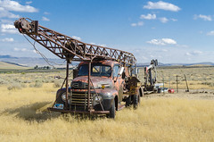 Thermopolis Oil Rig (Bob Welch) Tags: oil truck field pump jack old rusted ford