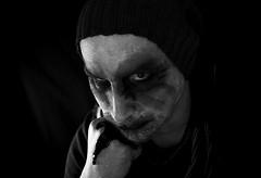 Mondag (Michiel Pappot) Tags: joker bla black white batman beard bald