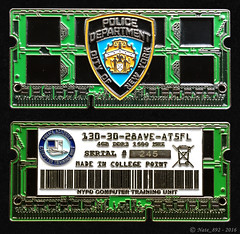 NYPD Computer Crimes Chip Challenge Coin (Green Version) (Nate_892) Tags: nypd computer crimes chip challenge coin new york police green serial