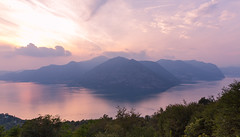 Sunset on Iseo 2 (LIL Scarab) Tags: iseo lago italia canon eos 6d ff sunset color ef2470mmf28lusmii redring ef water lac lake wedding view landscape lightroom mountain