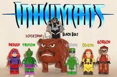 Inhumans Royal Family (John Blackstar) Tags: inhumans royal family lego marvel black bolt medusa