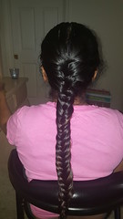 Another oiled fishtail braid (hairchick82) Tags: fishtailbraid fishtail braid plait khajoorichoti khajoori choti