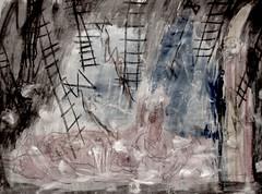 Ladders From An Iron Sky (giveawayboy) Tags: pencil marker sharpie crayon pen art acrylic paint painting fch tampa artist giveawayboy billrogers raphaelaloysiuslafferty ralafferty lafferty fromthethundercoltsmouth thunder colt royalpophistorian thunderax ax ironladders ladders iron sky