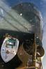 Below the Stern (Stephen T Slater) Tags: brixham devon torbay trawler uk boat box crate hull paddle propeller reflection rudder ship stern england unitedkingdom gb