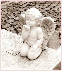 Angel (busylvie) Tags: tombe statue angelot cimetire guillotire lyon france