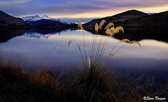 234x (Steve Daggar) Tags: lake sunset queenstown newzealand winter mountains snowcappedmountains fujix70