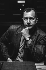 (plotkamusic) Tags: men brutal male monochrome portrait greyscale blackandwhite contrast highcontrast menportrait mensportrait eyes restorator restaurant arms watch haircut manager managing director japan