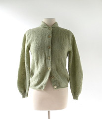 1960s lichen green mohair cardigan (Small Earth Vintage) Tags: smallearthvintage vintagefashion vintageclothing sweater cardigan mohair lichengreen beldochpopper 1960s 60s