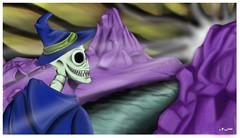 Mago Calvera (♦ Niels León ♦ Ilustración - sketch/Portafol) Tags: draw drawing colores color dibujo chile santiago art arte acuarela watercolor acrílico ilustration ilustracion work urban urbano city ciudad animales animals