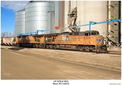 UP 5359 & 5552 (Robert W. Thomson) Tags: up unionpacific ge diesel locomotive sixaxle gevo evolutionseries es44 es44ac c45accte train trains trainengine railroad railway minot northdakota