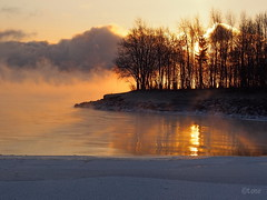 Sun rises over Lake Mjsa (Tone aka Hobbygaasa) Tags: winter norway sunrise mjsa gjvik lakemjsa