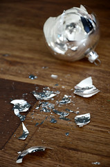 Shattered Christmas (Aienhime) Tags: christmas broken ball pieces shards