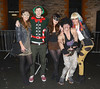 Fans arrive at the Farewell To 2012 Fancy Dress Party at the Florence & The Machine concert at The O2, Dublin, Ireland