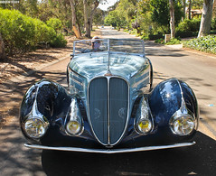 1937 Delahaye 135M by Figoni Falaschi (Countach fan) Tags: california blue canon french classiccar vintagecar automobile convertible exotic nicecar 135 dslr expensive rare roadster lightroom delahaye palosverdes exoticcar coachbuilt figonifalaschi torpedoroadster canont3