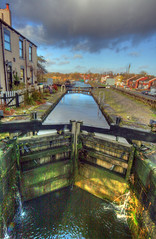Day 324 - Slattocks Top Lock HDR (Ben936) Tags: water clouds boat canal lock transport industrialrevolution hdr lockgates colourised toplock lockkeeperscottage toepath slattocks