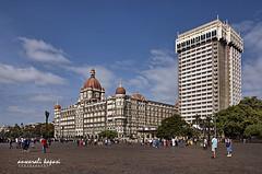 Taj Mahal Palace Hotel - Old & New (Anwar Kapasi) Tags: city nikon maharashtra mumbai gatewayofindia tajhotel tajmahalhotelmumbai thetaj tajmahalpalacehotel mumbaicity 18105mm nikond90 akapasi anwaralikapasi tajoldnew