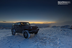 rubicon (Eric 5D Mark III) Tags: california morning winter sky usa cloud mountain snow color car sunrise canon landscape photography dawn scenery view unitedstates jeep 4x4 atmosphere gradient vehicle wrangler rubicon deathvalleynationalpark 14l ericlo aguereberrypoint ef14mmf28lusm eos5dmarkiii 5d3 6433ft