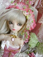 Spring Roses (~ Eglantine ~) Tags: virginia doll dress handmade lingerie corset bjd fairyland msd mnf minifee rheia