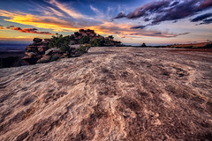 High Desert Sunset (Michael Riffle) Tags: autumn sunset southwest nature colors clouds canon landscape photography utah nationalpark rocks colorful day desert cloudy highdesert canyonlandsnationalpark canyonlands moab geology coloradoplateau desertsouthwest islandinthesky