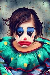 The Sad clown (Martine Sansoucy) Tags: boy canada balloons photography sadness photographer child sad clown ghost photographers creepy saskatoon depressed concept saskatchewan clowns ghostly concepts martinesansoucy