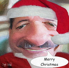 Merry Christmas (Peter Solano. Pursuing a dream!) Tags: santa red white texture self cartoon