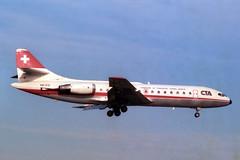 HB-ICO Sud Aviation SE.210 Caravelle CTA (pslg05896) Tags: cta gatwick caravelle lgw sudaviation se210 egkk hbico