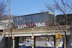 Aware Jaber (The Braindead) Tags: street blue snow art car minnesota train bench photography graffiti big box painted tracks minneapolis twin rail explore beyond aware the braindead jaber cites