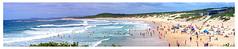 Soldiers Beach panorama (geebee57) Tags: ocean blue summer panorama sun beach nature water clouds coast sand surf waves colours australia nsw centralcoast eastcoast soldiersbeach
